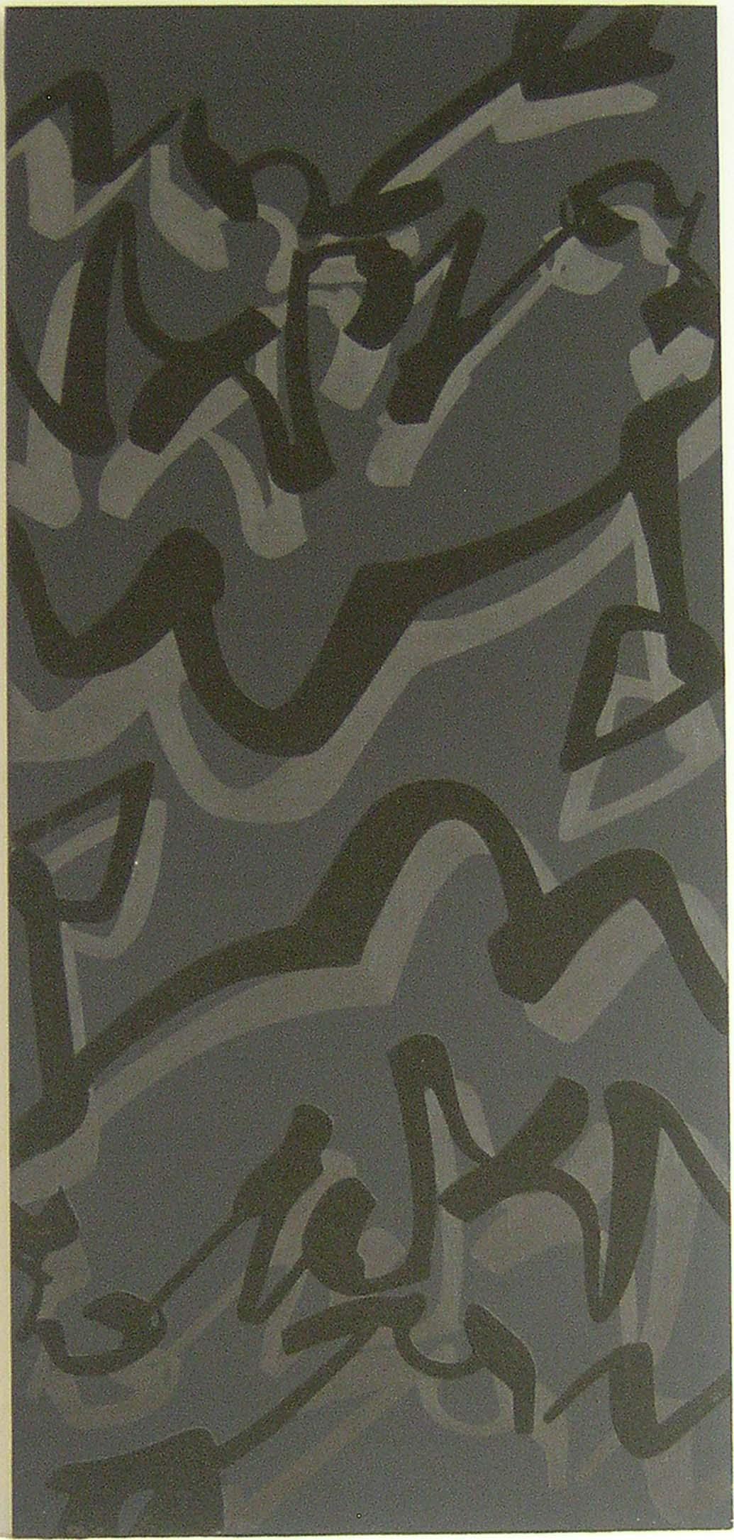 Evento. 1988, cm 160 x 75, Acrilico e sabbia su tela