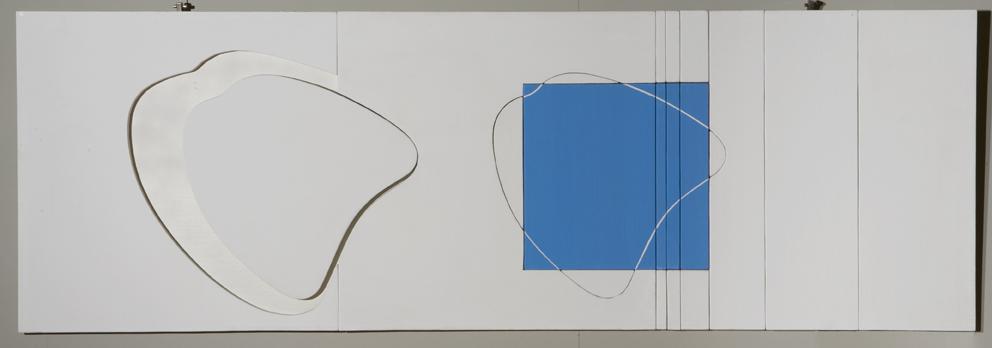 Nascita di una forma - Maternità (Evoluzione plastica), 1967, cm 60 x 180, Tecnica mista su legno