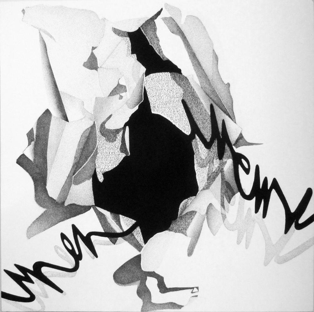 Interno Esterno, 2019, cm 100 x 100, Acrilico e sabbia su tela