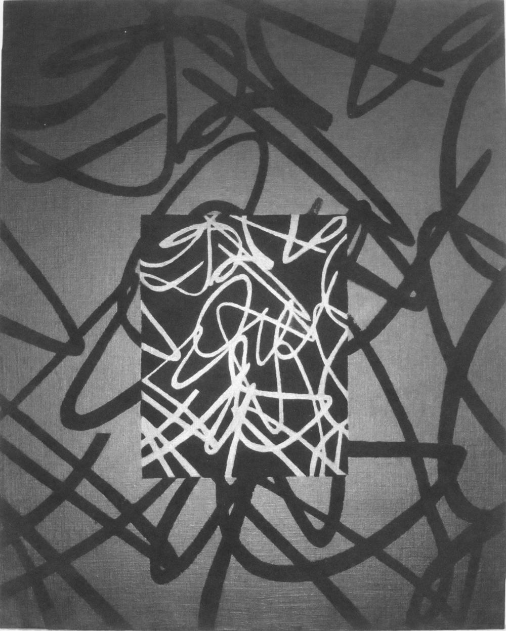 Matenità, 2004, cm 100 x 80, Acrilico e sabbia su tela