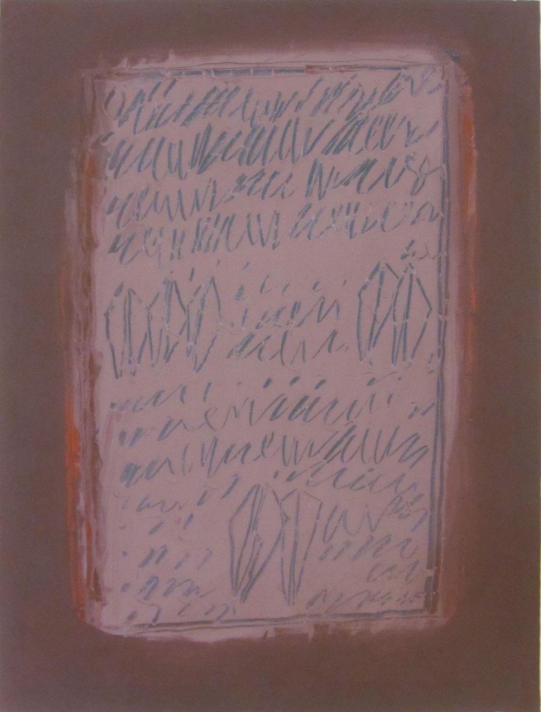 Racconti, 1964, cm 73 x 55, Tempera su carta