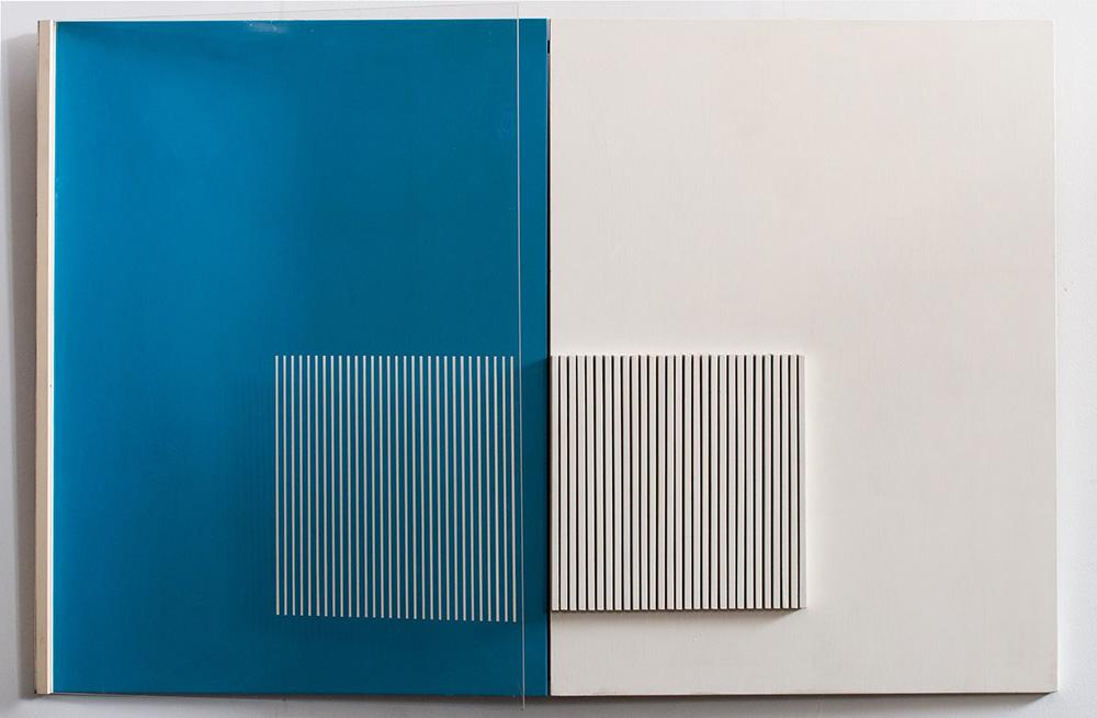 Pagina blu, 1972, cm 80 x 120, Tecnica mista