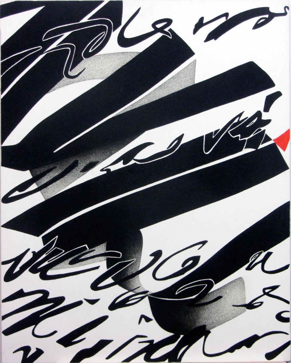 Invasione, 1993, cm 100 x 80, Acrilico e sabbia su tela