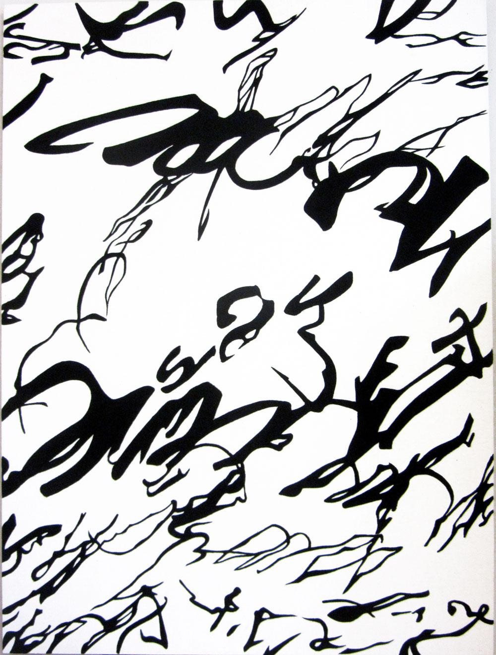 Segno Invasione, 1990, cm 160 x 120, Acrilico e sabbia su tela